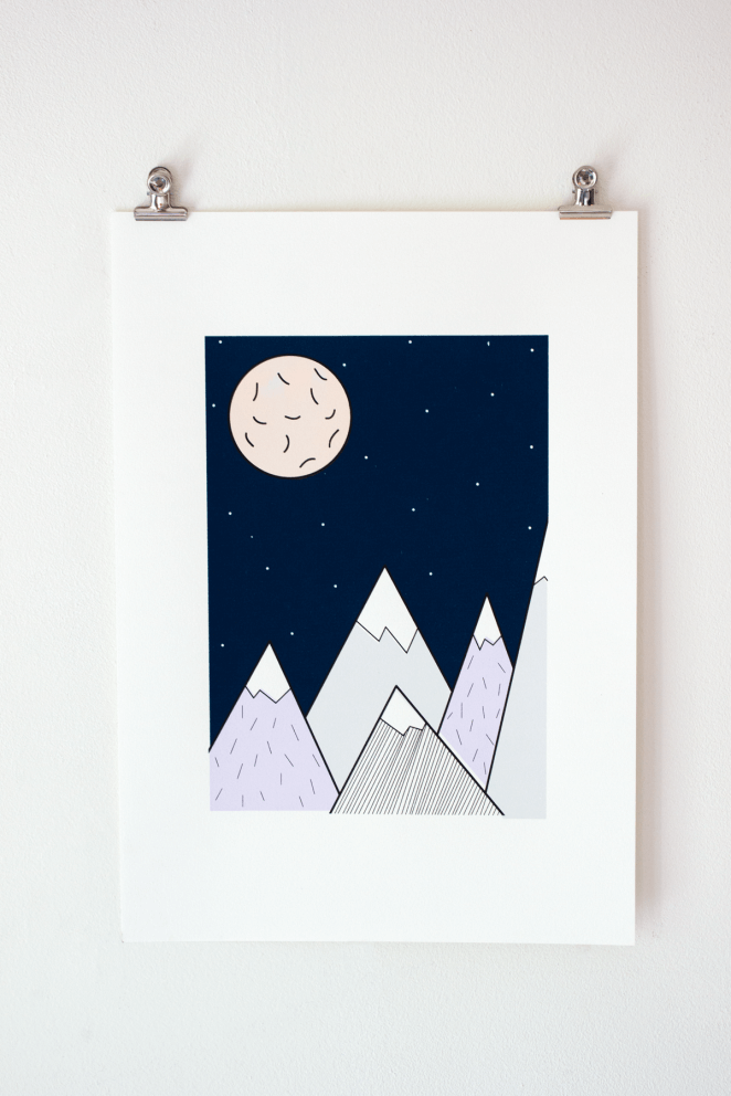 Screen Print Mountains