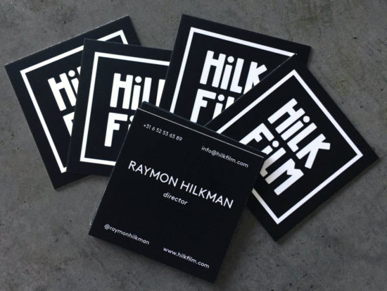 HILKFILM logo business cards - Dayo Scholing