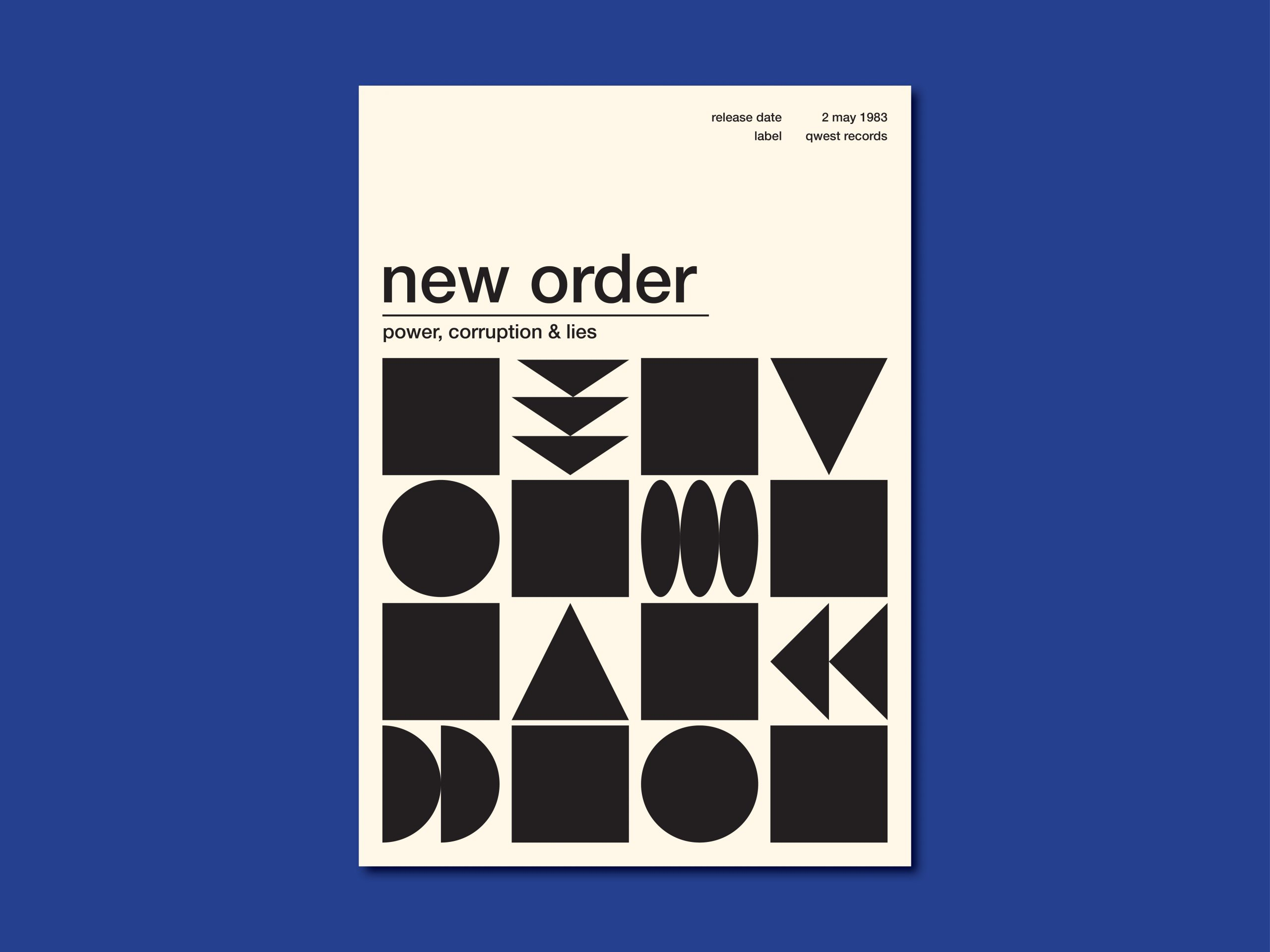 New Order poster - Dayo Scholing